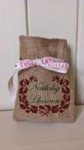 Personalized Welsh Small Father Christmas Xmas Santa Sack / Stocking Bag Jute Hessian